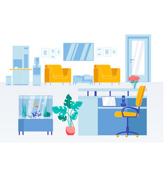 reception flat interior in modern business office vector image