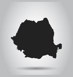 Romania map black icon on white background vector