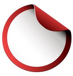 Round sticker on white vector image