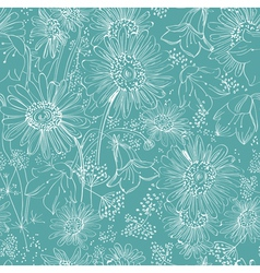 seamless flower bouquet vector image