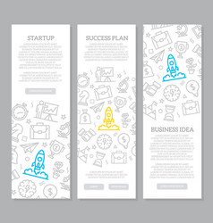 set startup and business vertical vector image