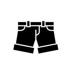 shorts - briefs icon black vector image