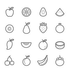 simple icon set fruit icon vector image