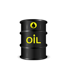 Single realistic oil barrel realistic object vector image