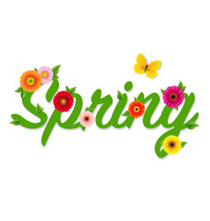 spring text vector image