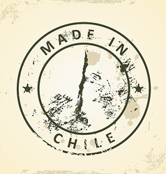 Stamp with map of Chile vector