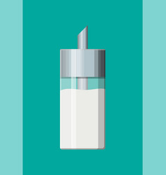 Sugar in glass sugar dispenser vector