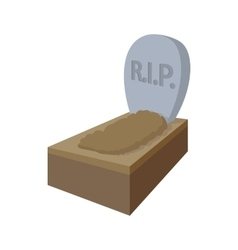 Tombstone with rip icon cartoon style vector