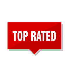 top rated red tag vector image