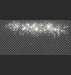 transparent christmas magic background with light vector image