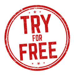 Try for free sign or stamp vector