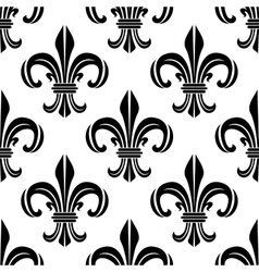 Victorian royal fleur-de-lis seamless pattern vector