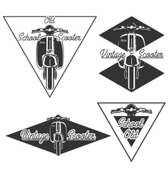 Vintage scooter emblems vector image
