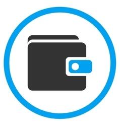 Wallet Flat Icon vector image