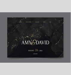 wedding landing page with hand painted design vector image