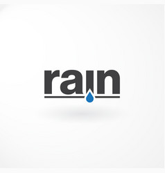 wordmark logo with rain text vector image