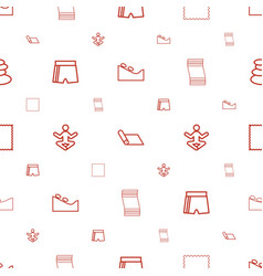 Yoga icons pattern seamless white background vector