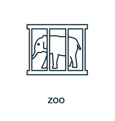 Zoo icon simple element from amusement park vector