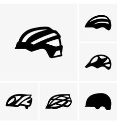 Bike helmets vector image vector image