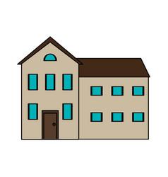 colorful image cartoon facade comfortable house vector image