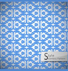 Flower blue lattice vintage geometric seamless vector