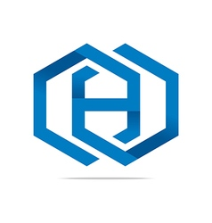 Logo Abstract Symbol Hexa Icon Element vector image vector image