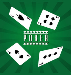 poker playing cards spade four gamble lucky vector image