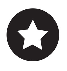 star icon on white background flat design star vector image