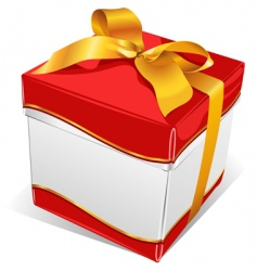 white box with gold tape vector image