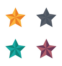icon christmas star flat style vector image