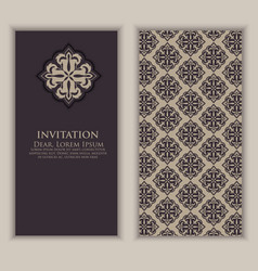 invitation cards with ethnic vector image vector image