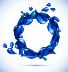 Liquid water spiral background vector image