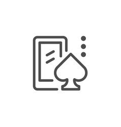 mobile casino line icon vector image vector image