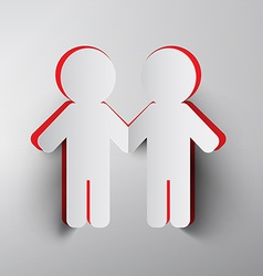 Paper Cut People Holding Hands vector image vector image