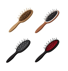 Hairbrush Set vector image vector image