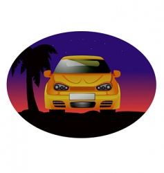 sports car night vector image vector image