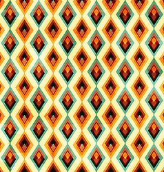 vintage diamond seamless pattern vector image