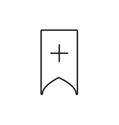 add bookmark icon vector image vector image