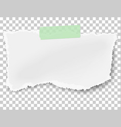Rectangular ragged paper wisp with soft shadow vector