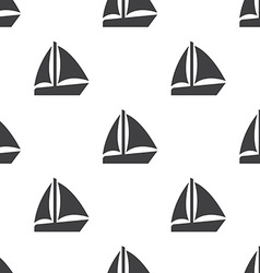 sail boat seamless pattern vector image