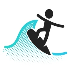 Surfing icon vector image
