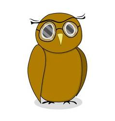Wise owl with glasses vector image vector image