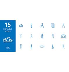 15 fix icons vector