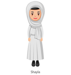 a woman wearing shayla islamic traditional veil vector image