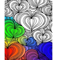 Abstract fantasy pattern hand drawn vector