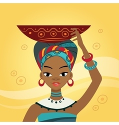 African Woman In Nation Clothes vector
