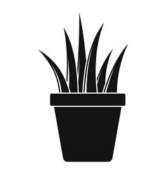 aloe pot icon simple style vector image