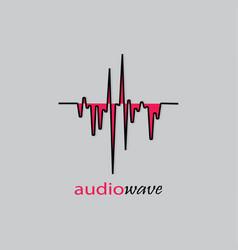 Audio wave logo vector
