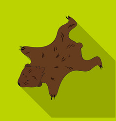 Bearskin icon in flate style isolated on white vector