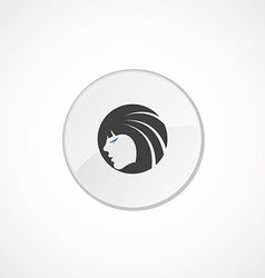 Beauty girl face icon 2 colored vector image